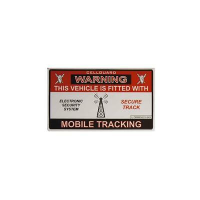 WARNING This Vehicle Is Fitted With Mobile Tracking Vinyl Window Sticker