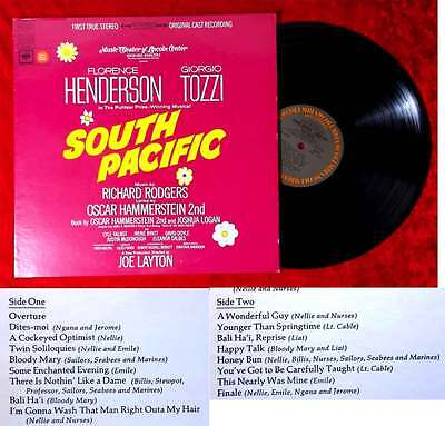 LP  South Pacific - Florence Henderson Giorgio Tozzi (Columbia OS 3100) US 1967