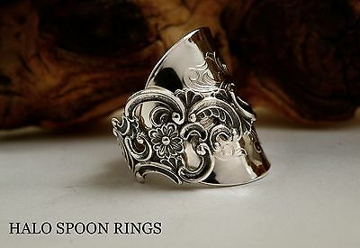 Beautiful Chunky Ladies Norwegian Silver Spoon Ring * Perfect Valentines Gift *