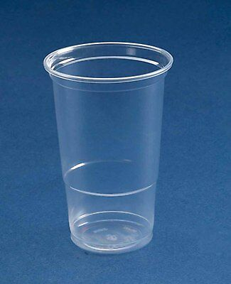 50  x  CE Stamped Plastic Pint Glasses Strong - Flexi