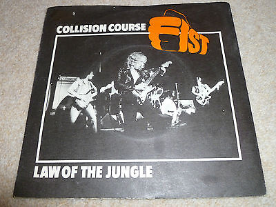 "COLLISION COURSE-Law Of The Jungle VINYL VINYL 7"" RARE NWBOHM  IRON MAIDEN/WASP"