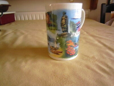 Dunoon pottery mug, showing scenes from Dunoon