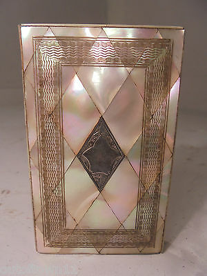 Antique Mother of Pearl Card Case    ref 919