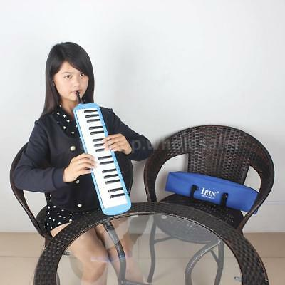 37 Keys Piano Melodica Pianica with Carrying Bag for Beginners Blue M9P8