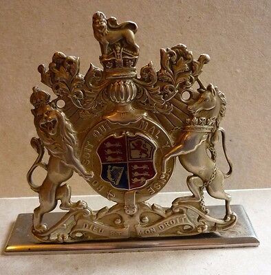 Vintage Lorry Fire Engine Bus Radiator Badge By Appointment Leyland Motors