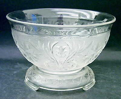Anchor Hocking SANDWICH CLEAR Punch Bowl & Stand 7729606
