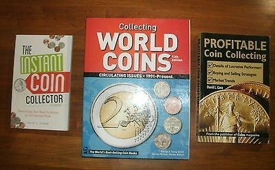 3 BOOKS: Collecting World Coins / Instand Coin Collector / Profitable Collecting