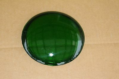 """Harley Green Spot Light Lens Real Glass Knucklehead Panhead About 5"""" (U-1917)"""