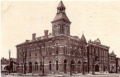 "Wauseon Ohio 1909 View Of ""city Hall""--Pub. By Read & Wager--Wowsers View~~"