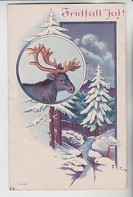 Finland Suomi Stamps 1924 Christmas Postcard From Collection