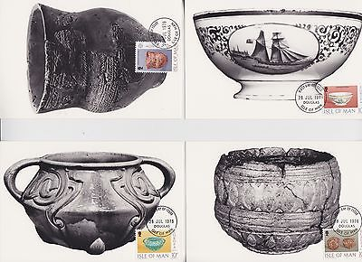 Isle Of Man Stamps 1976 Pottery Maxi Card First Day From Collection