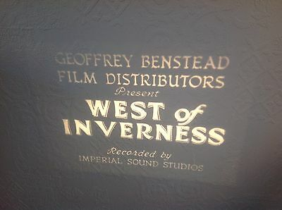 "VINTAGE 16mm SOUND FILM ""WEST OF INVERNESS"" B/W 400ft SOME LOVELY FOOTAGE. No12"