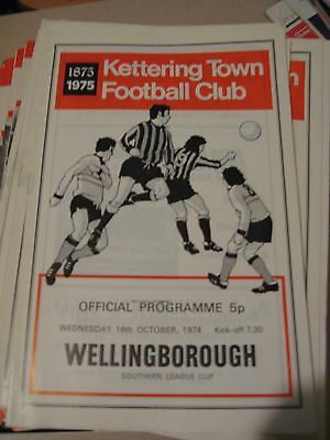 1974-75 Kettering Town v Wellingborough Southern League Cup 16.10.1974