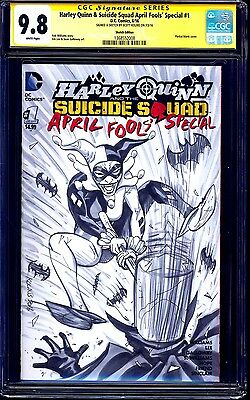 Harley Quinn Suicide Squad #1 BLANK CGC SS 9.8 signed SKETCH Scott Kolins NM/MT