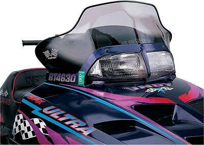 Powermadd 11430 Snowmobile Windshield 13.5in. Tint/Black Accent Graphics