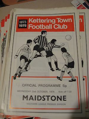 1974-75 Kettering Town v Maidstone United Southern League Premier 2.10.1974