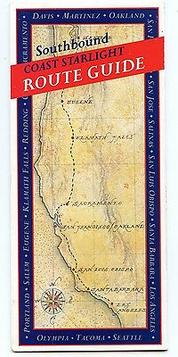 Usa: Amtrak Coast Starlight Route Guides & Timetable 1997, Seattle-Los Angeles.