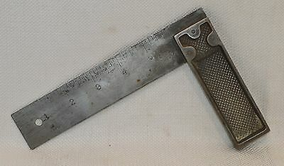"""Vintage 6"""" Stanley No. 12 Type 2 Sweetheart Steel Try Square (INV 9852)"""