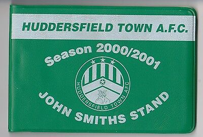 Huddersfield Town 2000 / 01 Used Season Ticket Booklet (with wallet)