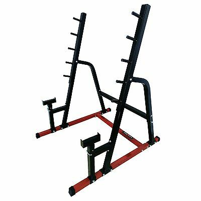 Nero Adjustable Squat Rack Power Barbell Weights Stand Heavy Duty Spotters Gym