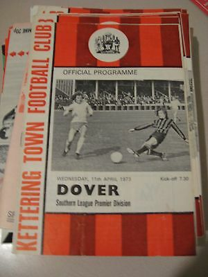 1972-73 Kettering Town v Dover Southern League Premier 11.4.1973