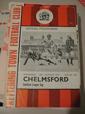 1972-73 Kettering Town v Chelmsford Southern League Cup 18.10.1972