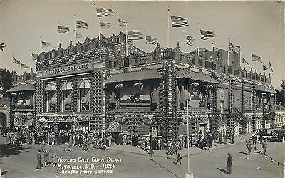 RPPC MITCHELL,  SD  South Dakota  CORN PALACE    1928  Kersey Photo  Postcard