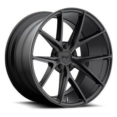 "17"" Niche Wheels M117 Misano Matte Black Rims"