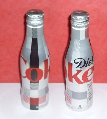 "1 Bouteille / Bottle Coca Cola  Alu  "" Plaid "" Usa  Full  Pleine"