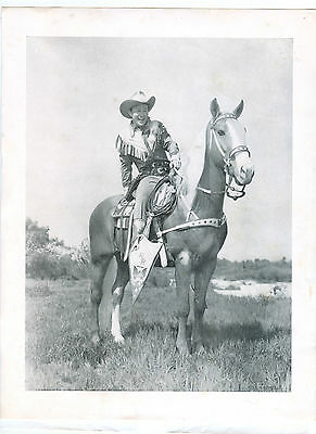 Vintage Roy Rogers on Trigger 8.5 x 11 Black and White Photo