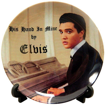 NEW Elvis Presley The King His Hand In Mine Decorative Collectors Plate w/ Stand