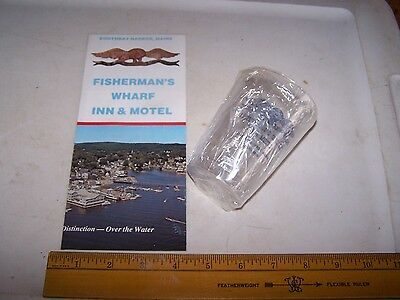 FISHERMAN'S WHARF INN & MOTEL Brochure & Disposeable Cup BOOTHBAY HARBOR MAINE