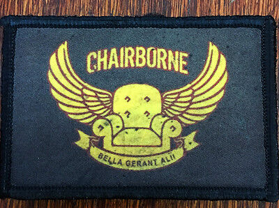 Chairborne Ranger Morale Patch Tactical Military Army Hook Flag Commando USA
