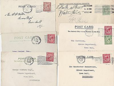 1910/28 All Diff Manchester Perfin Cover & 5 Postcards - Oil Electric Taxation