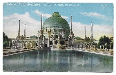 1915 Pan Pacific Expo PPIE Colorized Postcard ~ Palace of Horticulture