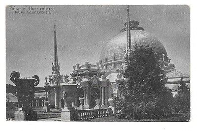 1915 Pan Pacific Expo PPIE Printed Photo Postcard ~ Palace of Horticulture