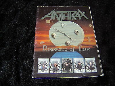 ANTHRAX - Persistence Of Time Tour Programme *Folds Out Into A Poster*