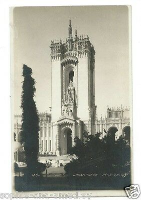 Real Photo Postcard RPPC ~ 1915 PPIE Pan Pacific Expo ~ Organ Tower