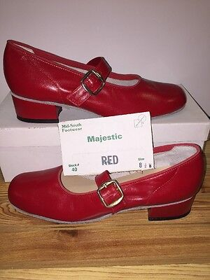 Majestic Size 8.5 W Womens Square Dance Shoes, Red