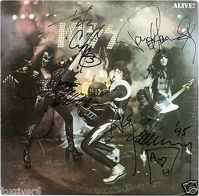 KISS Signed Advertisement / Photograph 'Alive' - Rock Band / Group