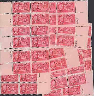 {BJ Stamps} 931  F. D. Roosevelt.  Mint  2 cent  25 Plate blocks  Issued in 1945