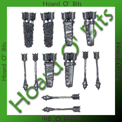 WARHAMMER BIN BITS SAVAGE ORCS - 6x QUIVERS and ARROWS