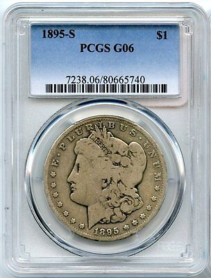1895-S Morgan Silver Dollar PCGS G 06 Certified - San Francisco Mint - AF38