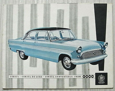 FORD CONSUL LOWLINE De Luxe & CONVERTIBLE Car Sales Brochure 1959 #N1386/959