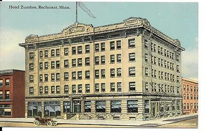 Postcard Rochester Minnesota Hotel Zumbro Chrome Divided Unposted