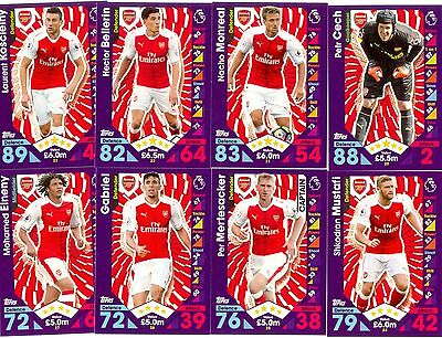 2016/2017 Topps Match Attax team set ARSENAL