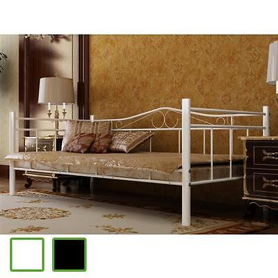 metallbett doppelbett tagesbett metallbett mit lattenrost matratze 200x90 cm eur 71 99. Black Bedroom Furniture Sets. Home Design Ideas