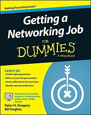 Getting a Networking Job For Dummies (For Dummies (Computers)),PB, - NEW