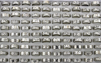 Men's Fashion Jewelry 70pcs Wholesale Mixed lots New Design Copper Rings AH302