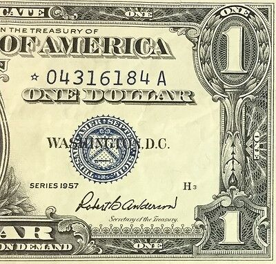 1957 $1 Blue Choice VF SILVER Certificate *** STAR *** X184 Old US Currency!